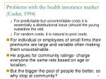 problems with the health insurance market cutler 199485