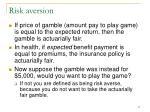 risk aversion27