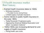 us health insurance market brief history