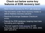 check out below some key features of edb recovery tool