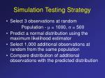 simulation testing strategy
