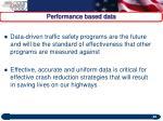 performance based data