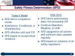 safety fitness determination sfd