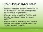cyber ethics in cyber space