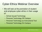 cyber ethics webinar overview