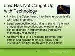 law has not caught up with technology