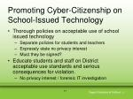 promoting cyber citizenship on school issued technology