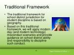 traditional framework10