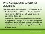what constitutes a substantial disruption