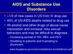 aids and substance use disorders