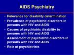 aids psychiatry