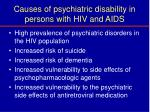 causes of psychiatric disability in persons with hiv and aids21