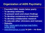 organization of aids psychiatry