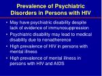 prevalence of psychiatric disorders in persons with hiv