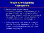 psychiatric disability assessment27