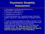 psychiatric disability assessment28