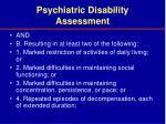 psychiatric disability assessment29