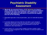 psychiatric disability assessment30