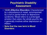 psychiatric disability assessment35