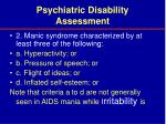 psychiatric disability assessment39