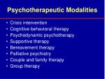 psychotherapeutic modalities
