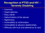 recognition of ptsd and hiv severely disabling