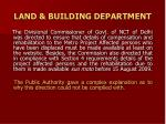 land building department