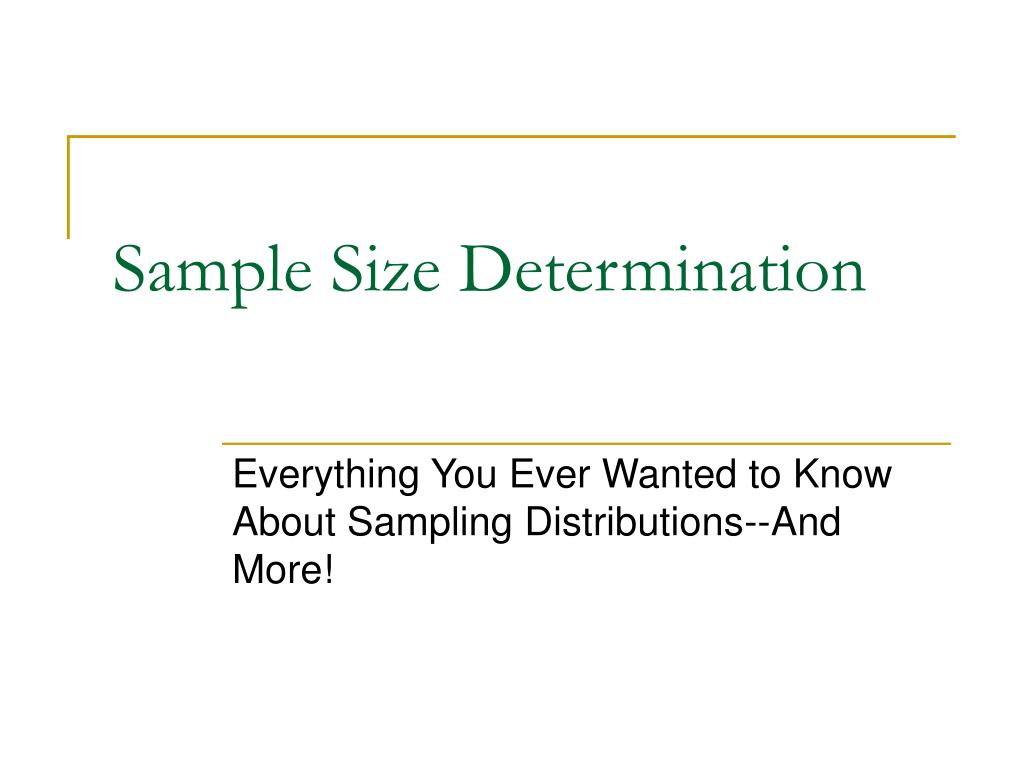 sample size determination l.