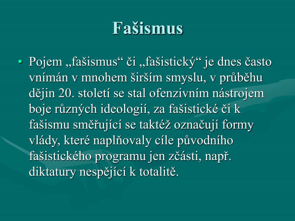 Fašismus