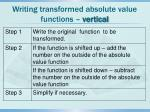 writing transformed absolute value functions vertical