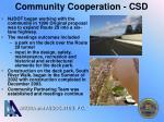 community cooperation csd