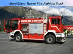 mont blanc tunnel fire fighting truck