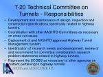 t 20 technical committee on tunnels responsibilities