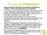 politique de promotion34