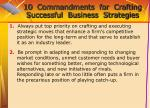 10 commandments for crafting successful business strategies