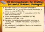 10 commandments for crafting successful business strategies70