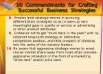 10 commandments for crafting successful business strategies71