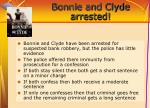 bonnie and clyde arrested
