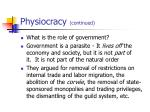 physiocracy continued18