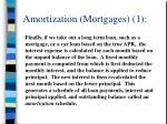 amortization mortgages 1