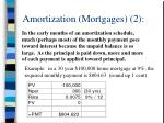 amortization mortgages 2