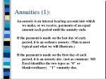 annuities 1