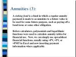 annuities 3