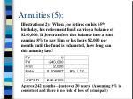 annuities 5