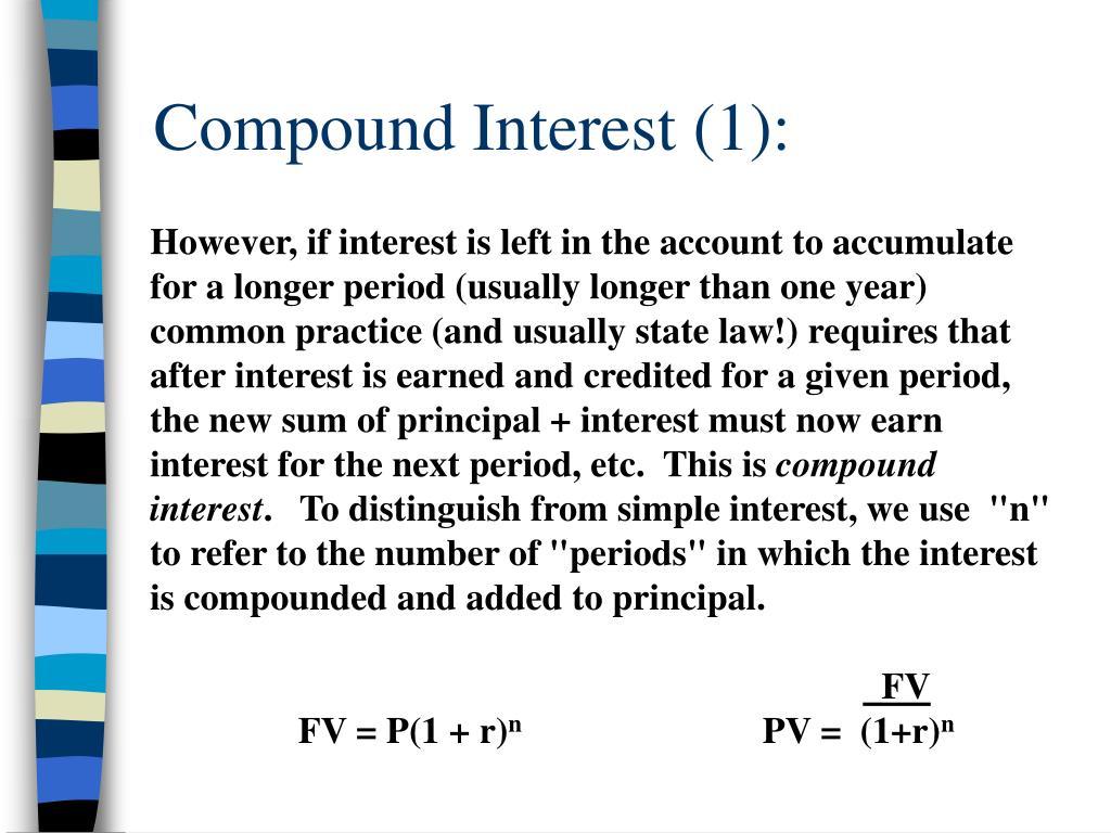 Compound Interest (1):