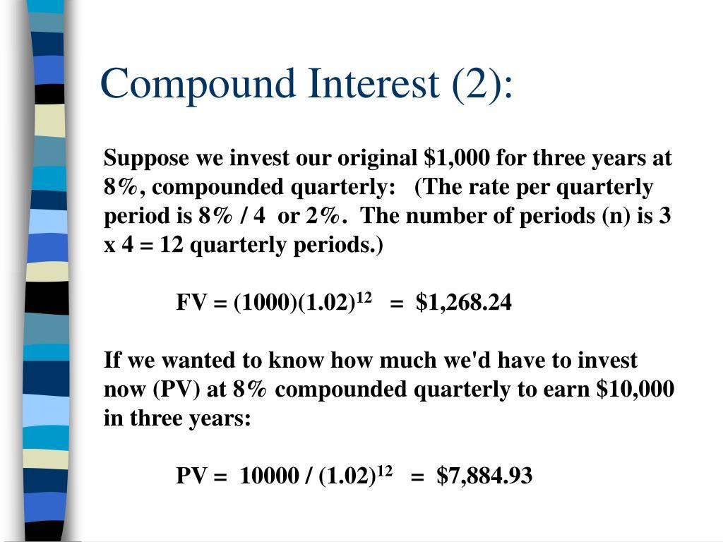 Compound Interest (2):