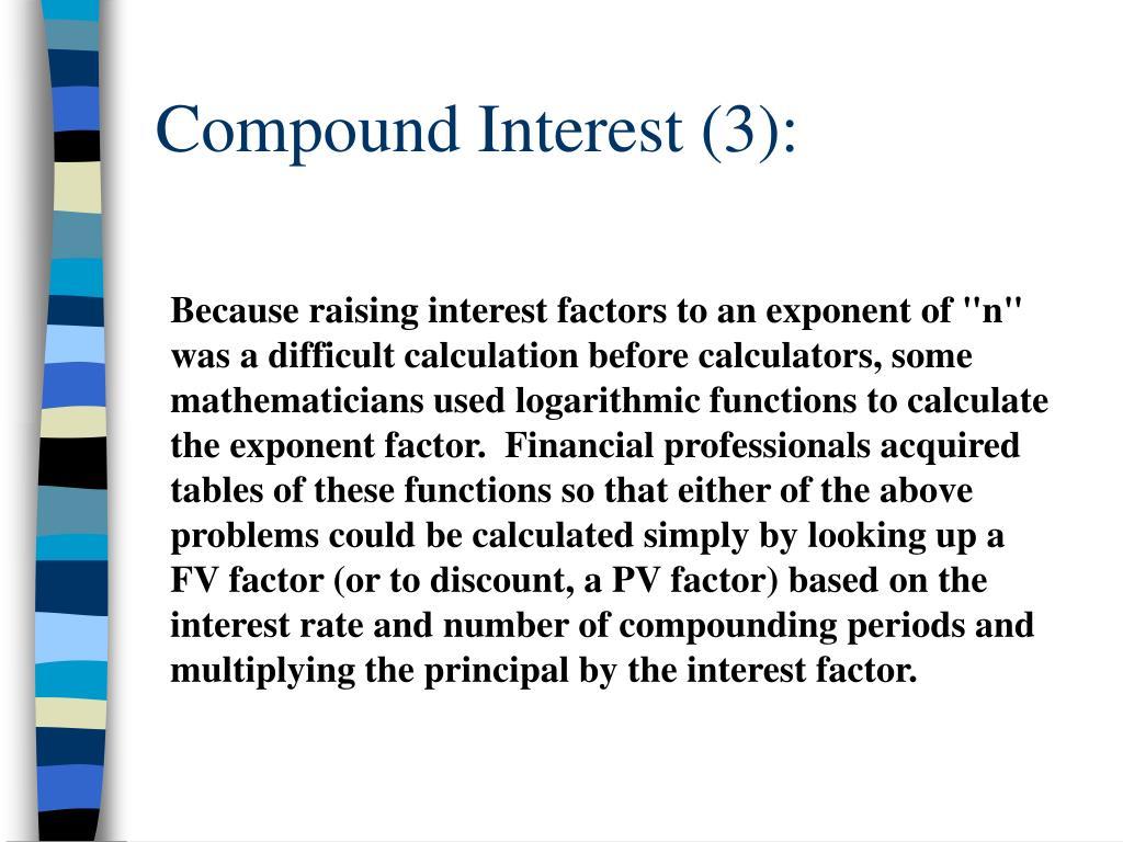 Compound Interest (3):