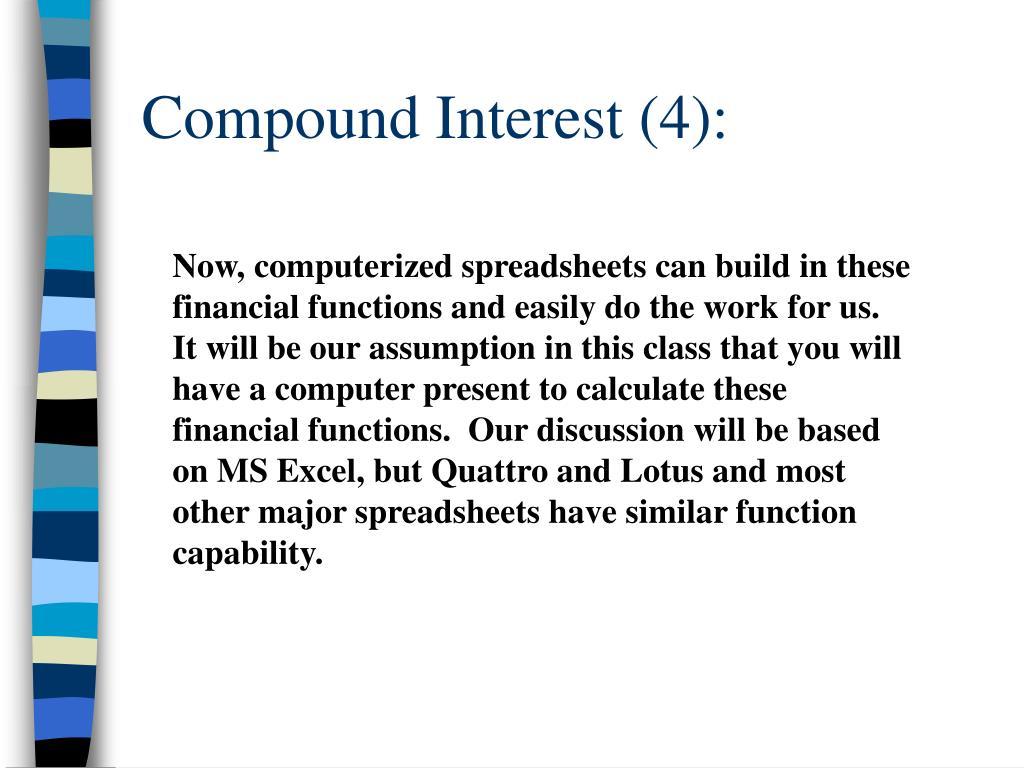 Compound Interest (4):