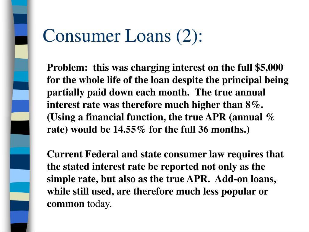 Consumer Loans (2):