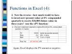 functions in excel 4